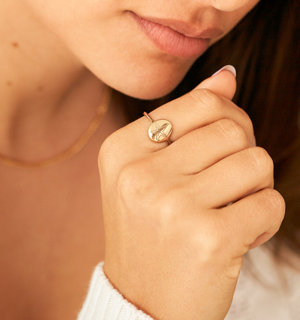 Starfish Signet Ring