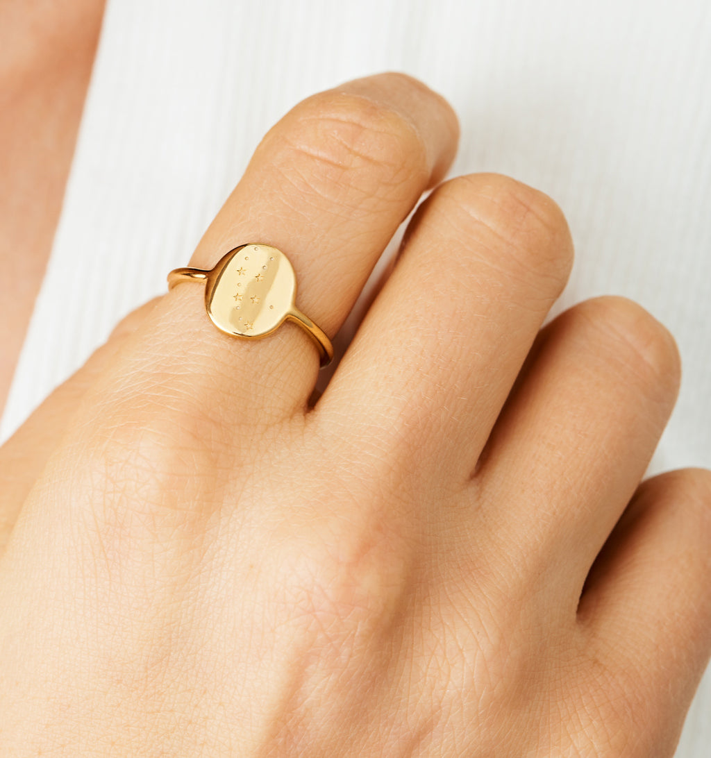 Virgo Zodiac Signet Ring
