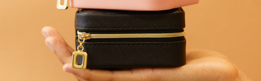 Jewelry Case - Black Vegan Leather