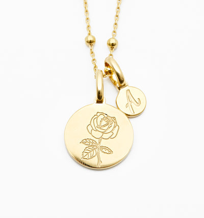 Rose Necklace - Dainty