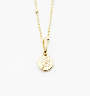 Morning Glory Flower Necklace - September