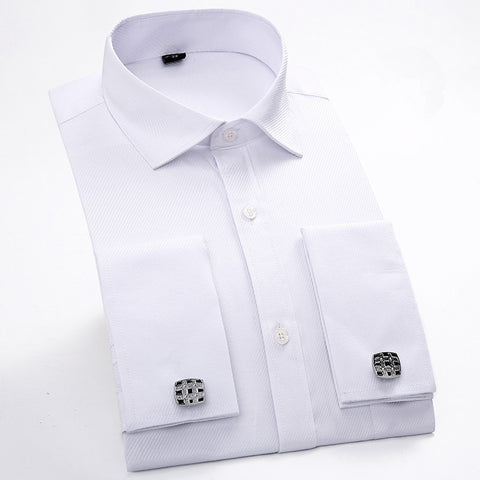 a1a25e62f69 Cufflinks Shirt 2017 New Men s Shirt Long Sleeve Casual Male Brand Shirts  Slim F.  36.89.  53.67. Cotton Linen Shirts Man Summer White Shirt Social  ...