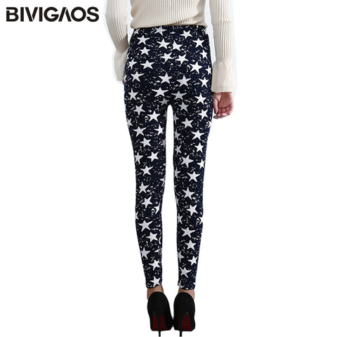 fdc598cbe4fee Summer Womens Fashion Black Milk Thin Stretch leggings Colored Stars  Graffiti Slim Skinny Leggings Pants Female