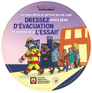 NFPA Not Every Hero Wears a Cape – Canadian Edition Stickers / Édition Canadien Autocollant - CanOps