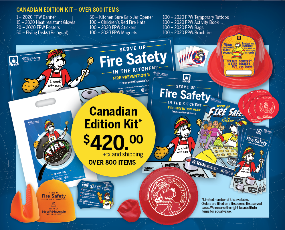 2020 – Canadian Edition Fire Prevention Week Kits - CanOps