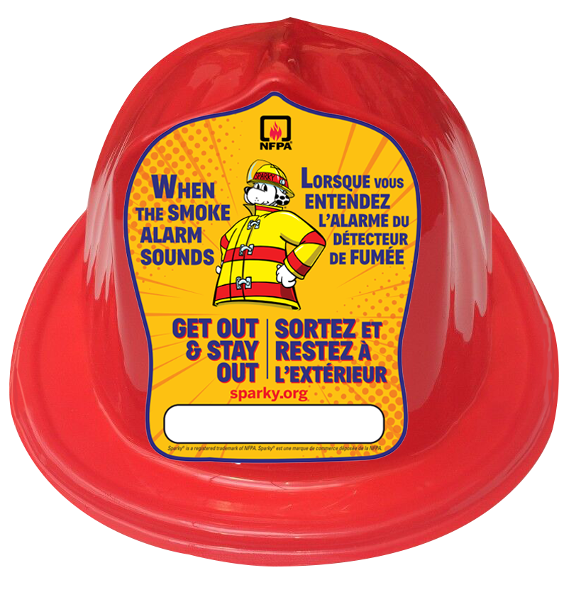 NFPA Sparky® Children's Red Fire Hats / Casque rouge de pompier pour enfant - CanOps
