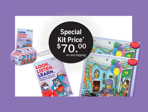 """Look. Listen. Learn."" Kids Fun Pack"