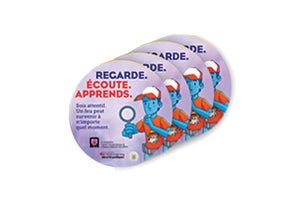 """Look. Listen. Learn."" Stickers / Regarde. Écoute. Apprends. Autocollant - CanOps"