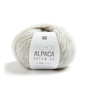 laine fashion alpaca dream dk, col 009, gris clair, rico design