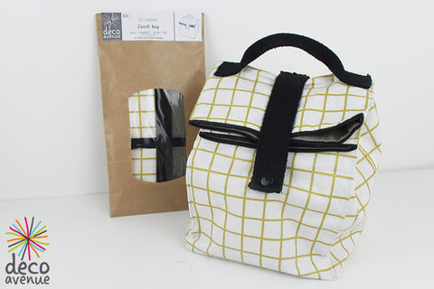 Kit lunch bag - carreaux