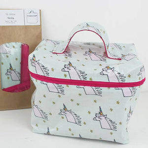 kit couture vanity, licorne, trousse de toilette, decoavenue, couture nantes