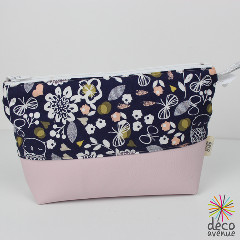 trousse chouettes rose