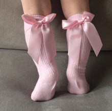 Bow knee high socks