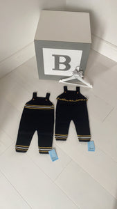 Navy and mustard Boys and Girls Granlei Dungaress