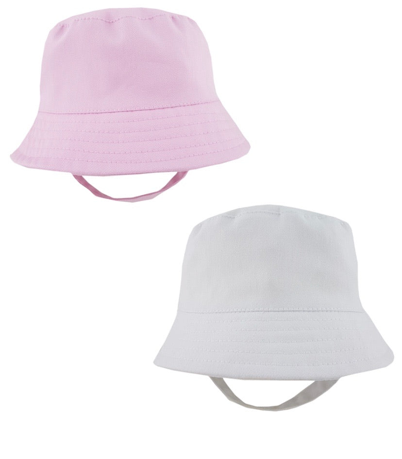 Bucket hats Pink and white