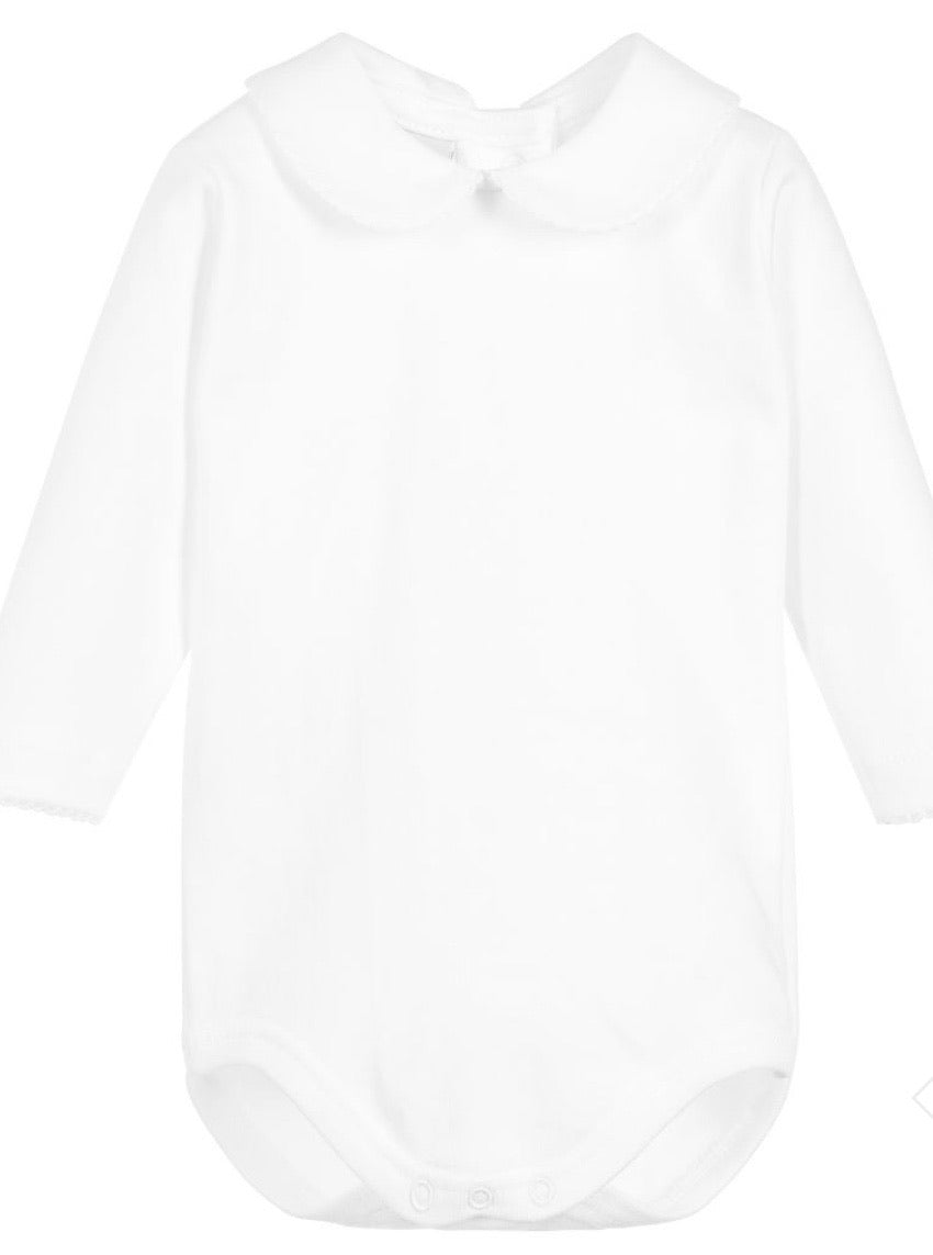 Babidu Long Sleeve White Bodysuits