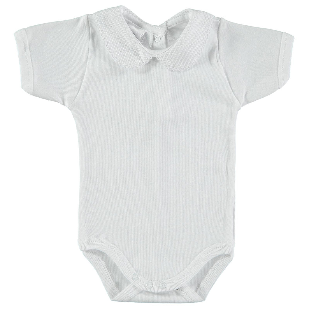 Peter Pan Short Sleeve Babidu Bodysuit