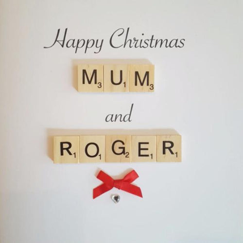 Happy Christmas Card (For Two People - e.g. Mum and Dad)