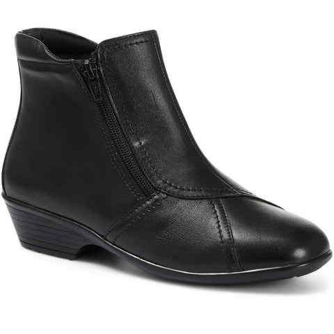Wide Fit Leather Ladies Ankle Boot - HSKEMP1811 / 146 311 Wide Fit Leather Ladies Ankle Boot