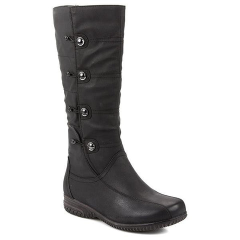 Black Calf Length Boot