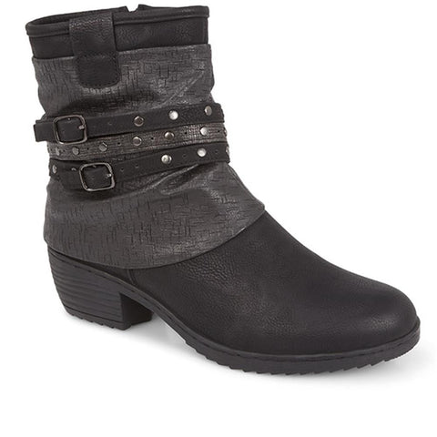 Black Slouch Fit Ankle Boot