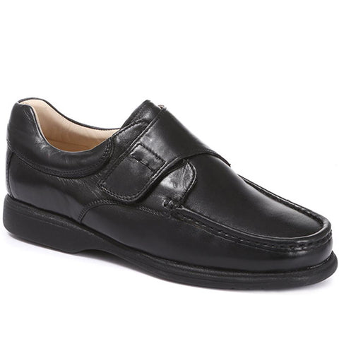 Black Leather One Touch Monk Shoe