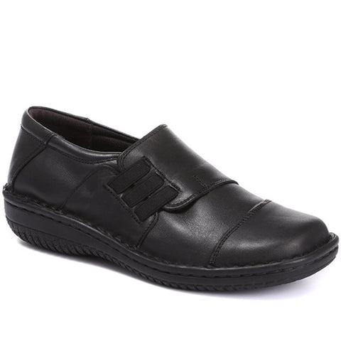 Black Handmade Leather Slip-On Shoe