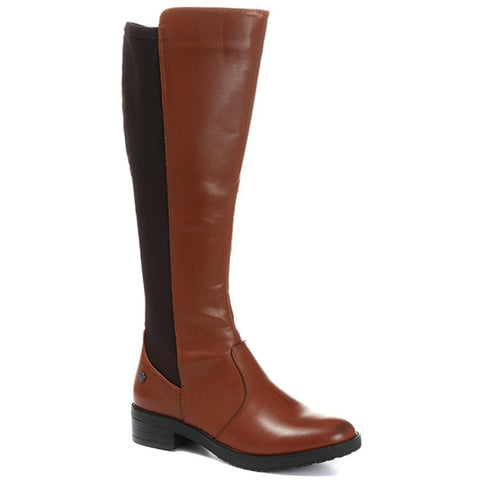 Tan Knee High Rider Boot