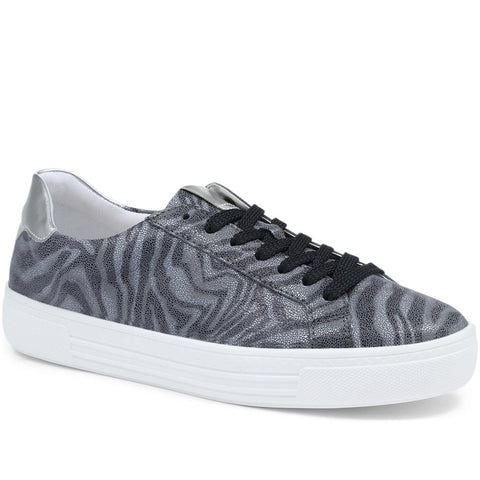 Navy Multi Metallic Lace-Up Trainers