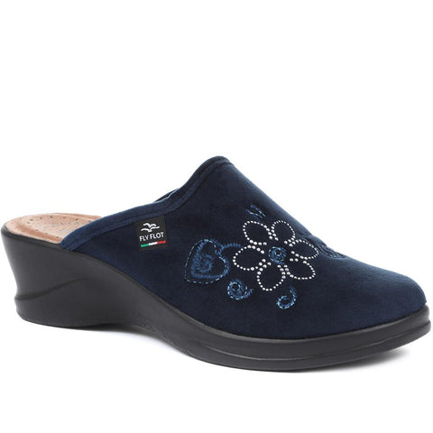 Navy Wide Fit Anatomic Clogs for Women