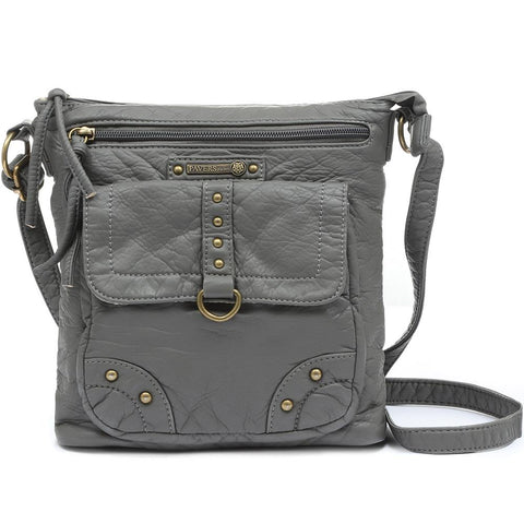 Grey Cross-Body Bag