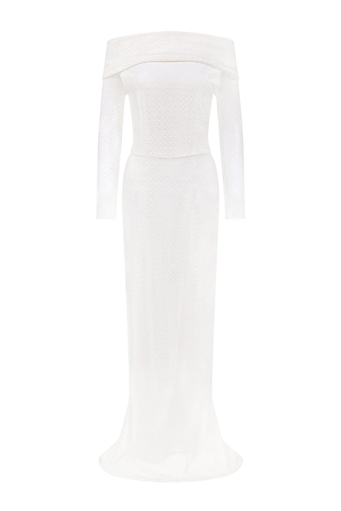 Angeline Tasman Gown - White