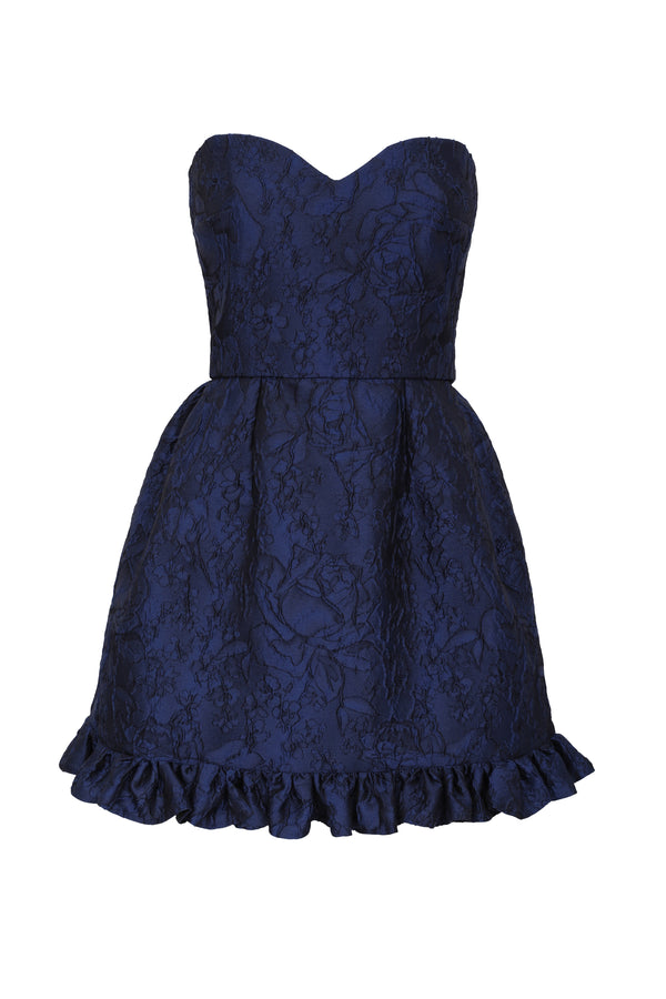 Golde Heart Shaped Mini Dress - Navy
