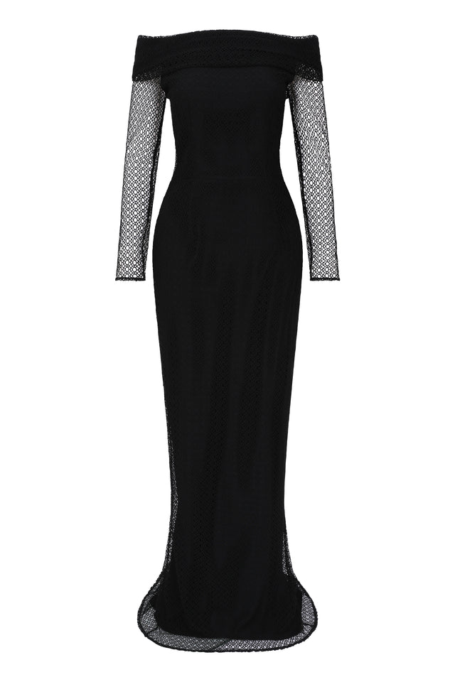 Angeline Tasman Gown - Black