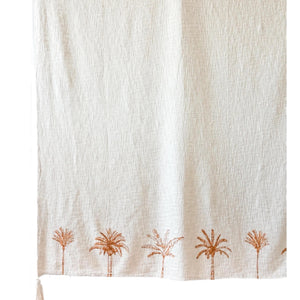Mixed Palm Throw - Natural/Ochre