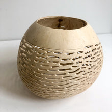Carved Coconut Candle Holders