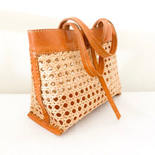 Rawa Leather & Rattan Bag [Medium]