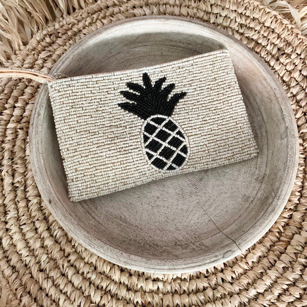 Pineapple Beaded Clutch