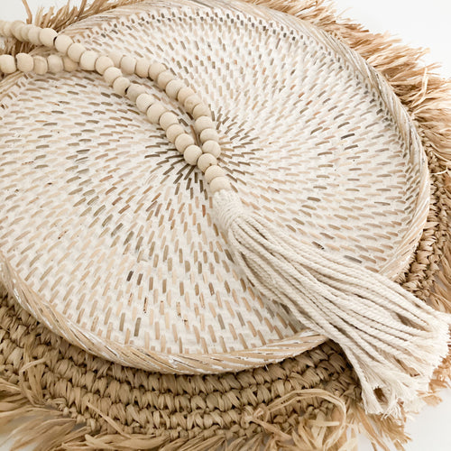 Amity Beaded Tassel - Natural