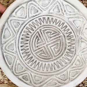 Medium Hand Carved Plate