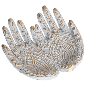 Receiving Hands Dish - White / Gold