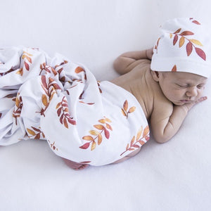 Wildfire Baby Jersey Wrap Set With Beanie