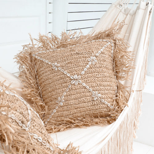 Havana Raffia Cushion by NMP