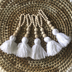 Mini Nordic Tassel Garland (White)