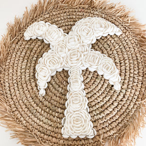 Palm Tree Shell Wall Hanging [Large]
