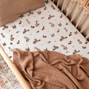 Snuggle Hunny Kids Fox Fitted Cot Sheet