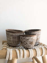 Medium Tribal Wooden Carved Bowl (Lines)