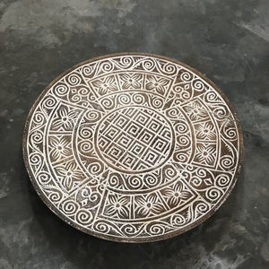 Carved Tribal Platter