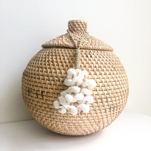 Nias Rattan Canister