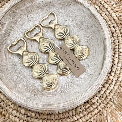 Brass Seashell Bottle Opener